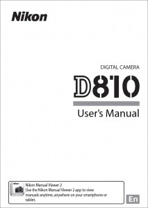 Nikon D810 Instruction Manual