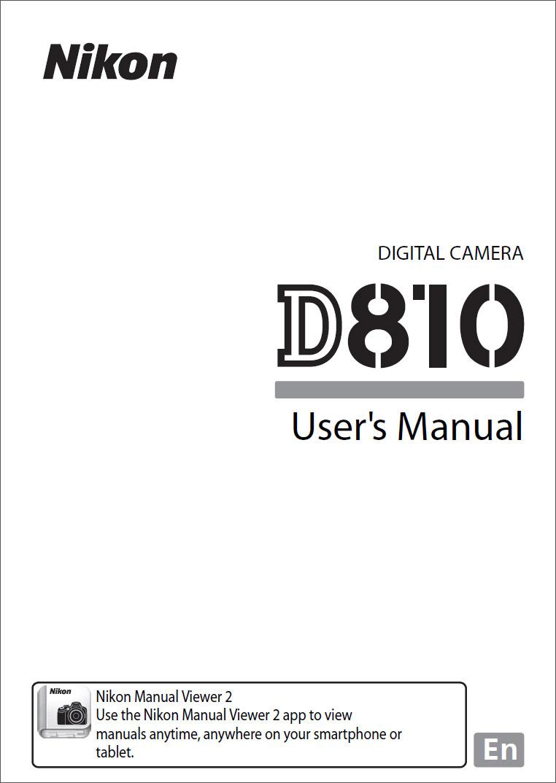 Nikon D810 Instruction Manual